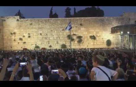 Singing Ani Ma'amin at the Western Wall on Tisha B'Av